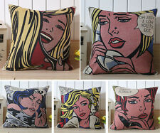 Roy Lichtenstein Pop Art Painting pattern cushion Cover linen pillow case,45cm