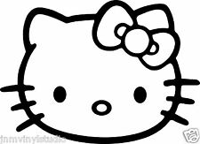 HELLO KITTY w/ bow vinyl decal sticker choose color