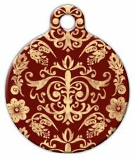 RED BAROQUE - Custom Personalized Pet ID Tag for Dog and Cat Collars