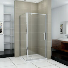 Shower Enclosure Walk In Pivot Shower Door Screen Cubicle Side Panel Stone Tray
