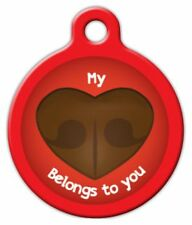 MY HEART BELONGS TO YOU - Custom Personalized Pet ID Tag for Dog and Cat Collars