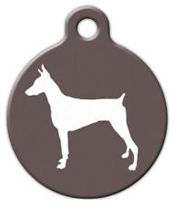 DOBERMAN SILHOUETTE - Custom Personalized Pet ID Tag for Dog and Cat Collars