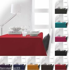 Round Rectangular & Extra Large Fabric Linen Tablecloth Plain 12 colours