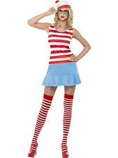 NEW! Adult Sexy Wally Where's Wenda? Ladies Fancy Dress Hen Party Costume Outfit