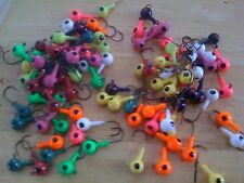 "25 Pack of Painted 1/4oz Round Head Floating Jigs 1/0 Hooks ""Fast Free Shipping"""