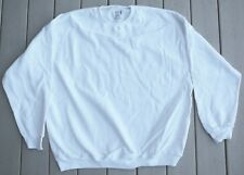White Fruit of Loom cotton polyester blend sweatshirts long sleeve heavy NEW