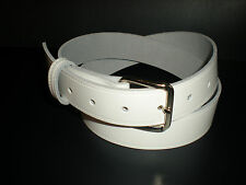 White leather belts suitable for men and women from small to XX large sizes