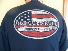 "Old Guys Rule "" Born in the USA "" T-shirt"