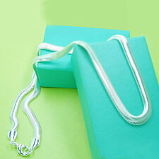Hot sale Free shipping solid silver 6mm snake chain 16-24 inches necklace gift