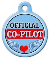 OFFICIAL CO -PILOT - Custom Personalized Pet ID Tag for Dog and Cat Collars