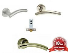 Chrome, Satin & Dual T-Bar Internal Door Handles & Latches. Round Push on Rose