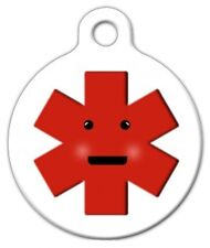 KAWAII MEDICAL ALERT - Custom Personalized Pet ID Tag for Dog and Cat Collars
