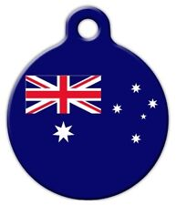 AUSTRALIA FLAG - Custom Personalized Pet ID Tag for Dog and Cat Collars