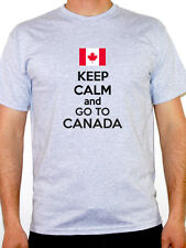 KEEP CALM AND GO TO CANADA - Canadian / Maple Leaf / Novelty Themed Mens T-Shirt