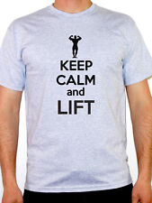 KEEP CALM AND LIFT - Weights / Training / Fitness / Sport Themed Mens T-Shirt