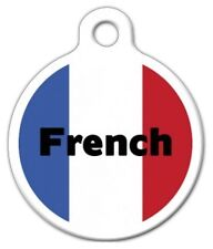 FRENCH FLAG - Custom Personalized Pet ID Tag for Dog and Cat Collars
