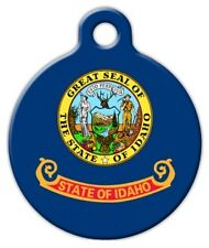 IDAHO FLAG - Custom Personalized Pet ID Tag for Dog and Cat Collars
