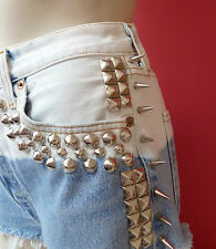 Vintage LEVIS 501 High Waisted Shorts bleach dipped with mega stud detail