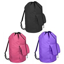 "Home Collections Nylon 16""x30"" Backpack Laundry Bag in 3 Colors"