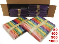 Jumbo Coloured Lolly Sticks / Craft Sticks 150mm × 18mm - Pick Your Pack Size