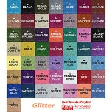 "Siser GLITTER Heat Transfer Vinyl 20"" x 1 Foot - 38 Colors to choose from!"