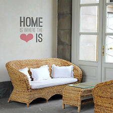 Home Is Where The Heart Is Quote Stencil for Walls - DIY home decor