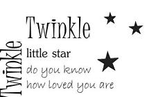 "Twinkle Twinkle Little Star Quote - Vinyl Decal / Sticker - 15"" x 9"" [Kids 6]"