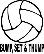 volley ball bump set thump men women game sand   VINYL DECAL STICKER 1452-1 +