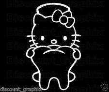 HELLO KITTY DENTIST TOOTH DECAL STICKER TEETH WINDOW DENTAL OFFICE ASSISTANT