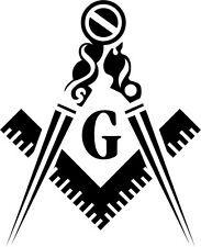 Masons Masonic Vinyl Decal Sticker Car Window Wall Printed