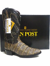 Taupe/ Black Real Caiman gator Exotic Western Boots ~Dan Post Mens DP2381