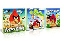 3 X DEEP EDGE CANVAS PICTURES bright ANGRY BIRDS  FREE P&P NEW