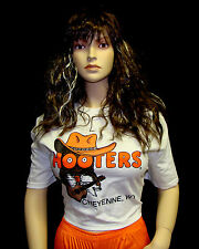HOOTERS UNIFORM COWBOY SHIRT SHORTS SOCK PANTYHOSE cowgirl halloween costume