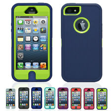 Heavy Duty Shock Proof Defender iPhone 5 Case Cover + Screen Protector