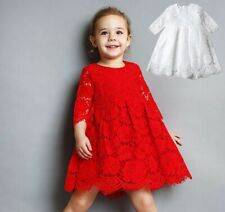 NWT Kids Baby ZARA Girls 2 Colours Lace Flower Dress Skirt size 1,2,3,4,5,6,7,8