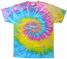 Tie Dye T Shirts New Saturn Multi Colors Spiral Variation Youth XS to Adult 3XL