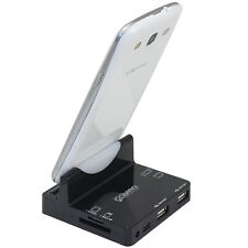 USB Sync Charger Dock Station Cradle+Card Reader f Samsung Galaxy S2 S3 S4 Note2
