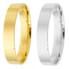 Brand New 18ct Yellow Gold Flat Court Plain Wedding Ring Band