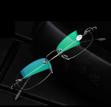 1X Reading Glasses Frameless Rimless Matching Carrying Case +1.0 1.5 2.0 2.5 3.0