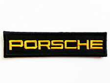 PORSCHE Text Iron on Racing Embroidered Patches Sports Car Auto Woven Badges