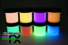 GLOW in the DARK Daytime Visible & UV Re-active Paints 1oz pots