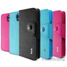 Imak Cross PU Leather Flip Wallet Cover Case for Alcatel One Touch Idol OT 6030D