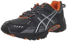 Asics Gel Ventures 3 Men's Trail Running Shoes Charcoal Black Orange (Wide) NIB