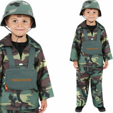 BOYS ARMY TOY SOLDIER BOY - CHILDRENS KIDS FANCY DRESS COSTUME - MILITARY FORCES
