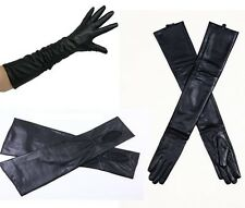"""Real Lambskin Leather long gloves Opera Evening Party Costume Length 18"""" long"""