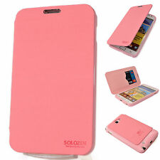 SAMSUNG Galaxy Note 2 Premium Leather Case Flip Cover Protector Card Wallet PINK
