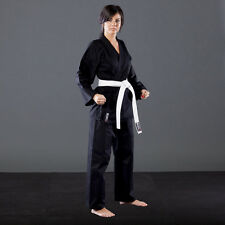 KARATEGI BLACK POLY 8 ONCE ADULT STUDENT SUIT MARTIAL KARATE JUJITSU JUJUTSU GI