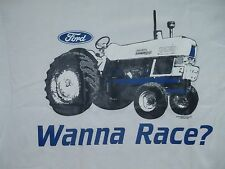 Ford Tractor - Wanna Race - Adult T-Shirt - Mens Womens and Juniors