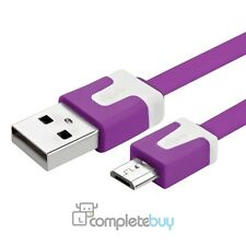 1m Purple Noodle Micro USB Cable For Samsung Galaxy S4 S3 Mini S2 Note 2 Ace