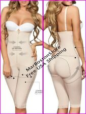 Knee-Lngth Body Shaper With Free Bust and Straight Cut , Moldeate 5057  Nude